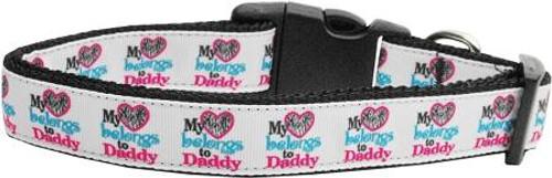 My Heart Belongs To Daddy Nylon Collar Large