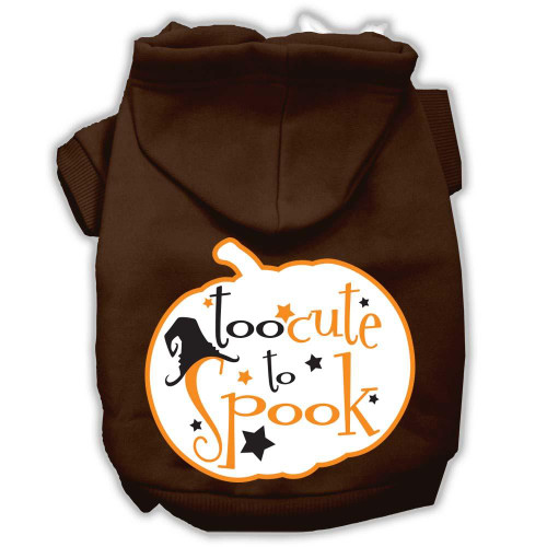 Too Cute To Spook Screenprint Hoodie Brown S (10)