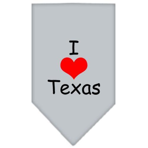 I Heart Texas  Screen Print Bandana Grey Large