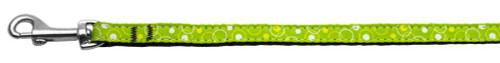 Retro Nylon Ribbon Collar Lime Green 3/8 Wide 4ft Lsh - 125-003 3804LG