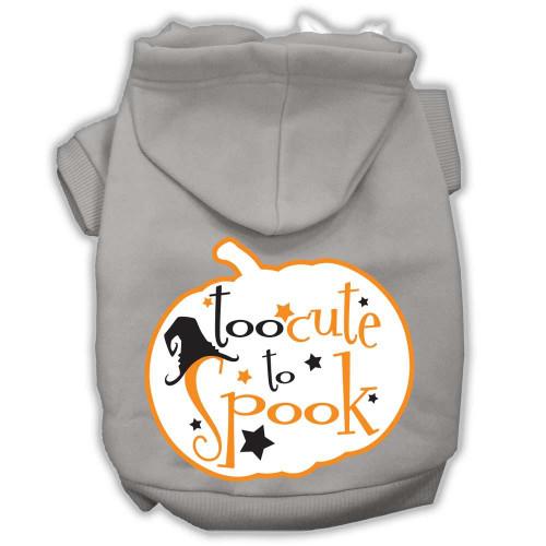 Too Cute To Spook Screenprint Hoodie Grey S (10)