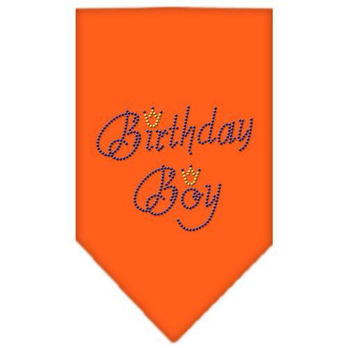 Birthday Boy Rhinestone Bandana Orange Large