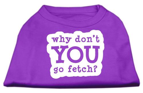 You Go Fetch Screen Print Shirt Purple Xs (8)
