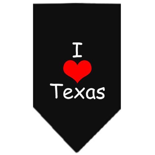 I Heart Texas  Screen Print Bandana Black Large