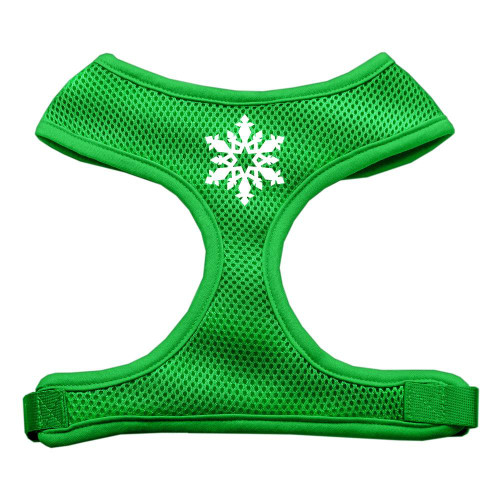 Snowflake Design Soft Mesh Harnesses Emerald Green Extra Large