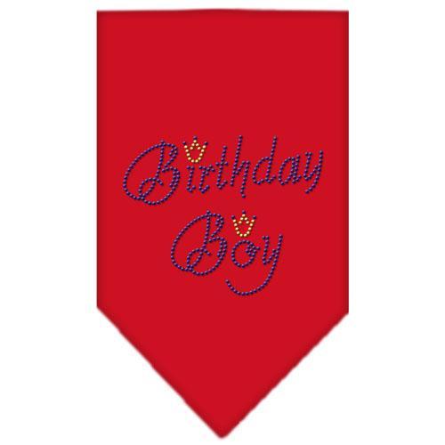 Birthday Boy Rhinestone Bandana Red Large