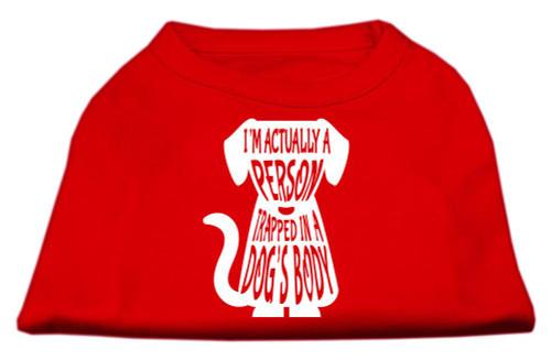 Trapped Screen Print Shirt Red Xl (16)