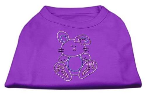 Bunny Rhinestone Dog Shirt Purple Sm (10)