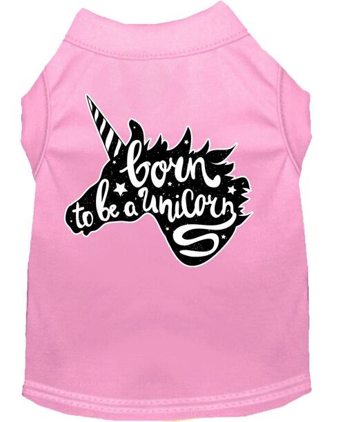 Born To Be A Unicorn Screen Print Dog Shirt Light Pink Xl (16)
