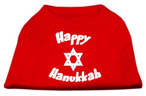 Happy Hanukkah Screen Print Shirt Red Xxxl (20) - 51-25-05 XXXLRD