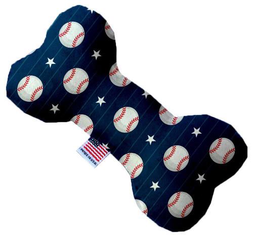 Baseball Pinstripes 10 Inch Bone Dog Toy