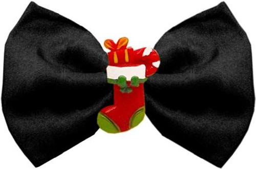 Stocking Chipper Black Pet Bow Tie