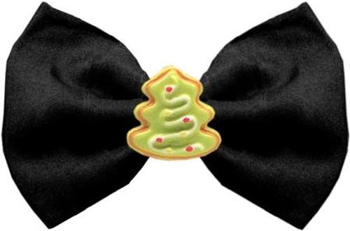 Christmas Tree Chipper Black Pet Bow Tie