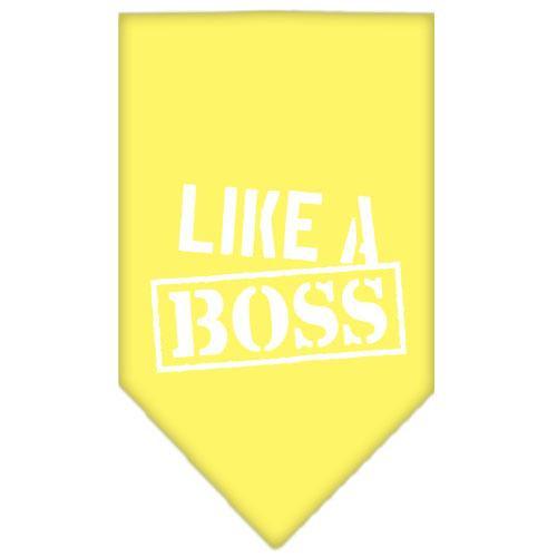 Like A Boss Screen Print Bandana Yellow Small