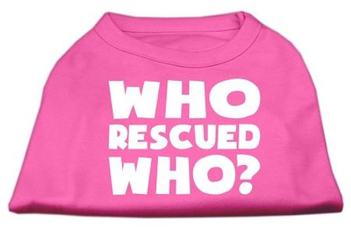 Who Rescued Who Screen Print Shirt Bright Pink Xxl (18)