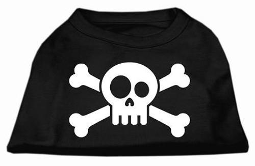 Skull Crossbone Screen Print Shirt Black Lg (14)