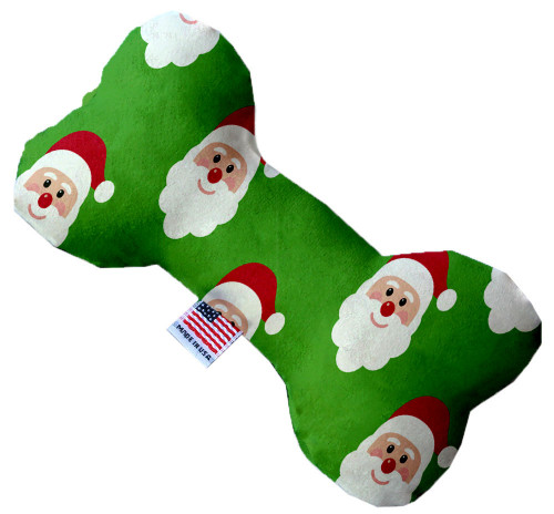Smiling Santa 6 Inch Bone Dog Toy