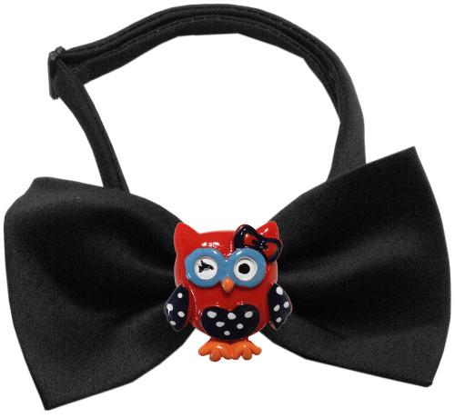 Patriotic Owls Chipper Black Bow Tie