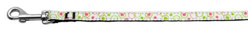 Retro Nylon Ribbon Collar White 3/8 Wide 4ft Lsh - 125-003 3804WT