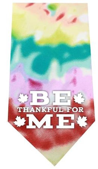 Be Thankful For Me Screen Print Bandana Tie Dye