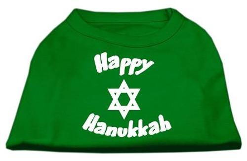 Happy Hanukkah Screen Print Shirt Emerald Green Sm (10)