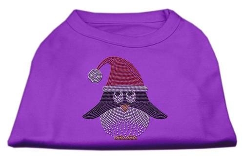 Santa Penguin Rhinestone Dog Shirt Purple Xl (16)