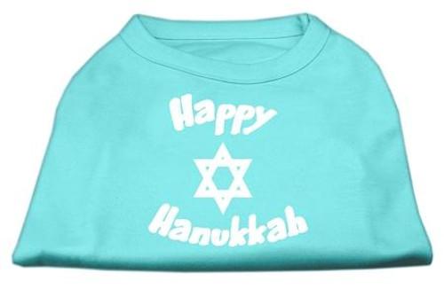 Happy Hanukkah Screen Print Shirt Aqua Sm (10) - 51-25-05 SMAQ