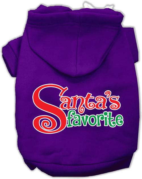 Santas Favorite Screen Print Pet Hoodie Purple Med (12)
