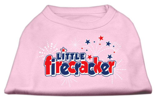 Little Firecracker Screen Print Shirts Light Pink Xl (16)