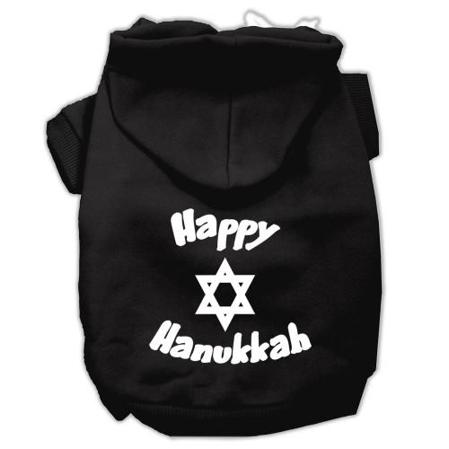 Happy Hanukkah Screen Print Pet Hoodies Black Size Xxl (18)