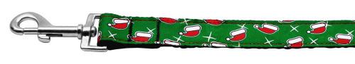 Santa Hat Nylon And Ribbon Collars . 1'' Wide X 4' Leash - 25-04 1004