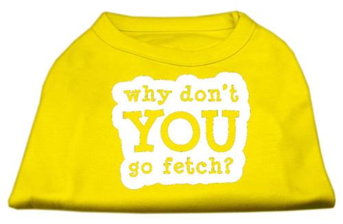 You Go Fetch Screen Print Shirt Yellow Xl (16)