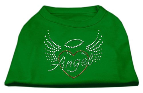 Angel Heart Rhinestone Dog Shirt Emerald Green Xxxl (20)
