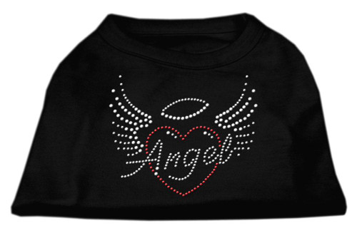 Angel Heart Rhinestone Dog Shirt Black Xxxl (20)