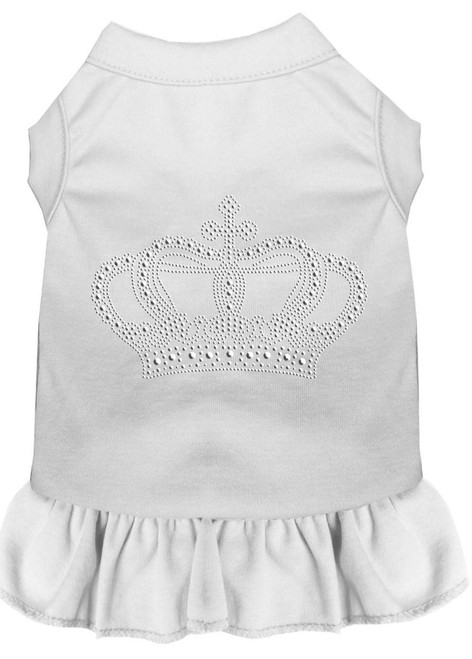 Rhinestone Crown Dress White Xs (8)