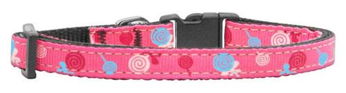 Lollipops Nylon Ribbon Collar Bright Pink X-small