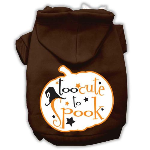 Too Cute To Spook Screenprint Hoodie Brown Xxl (18)
