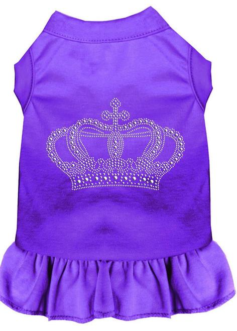 Rhinestone Crown Dress Purple Xs (8)