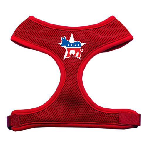 Democrat Screen Print Soft Mesh Harness Red Extra Large