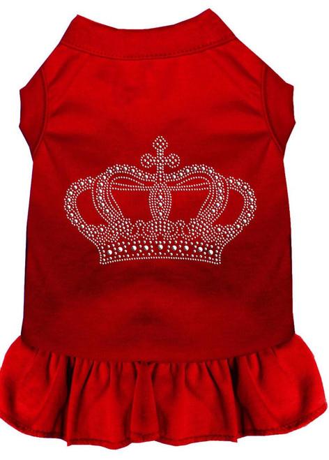 Rhinestone Crown Dress Red Xs (8)