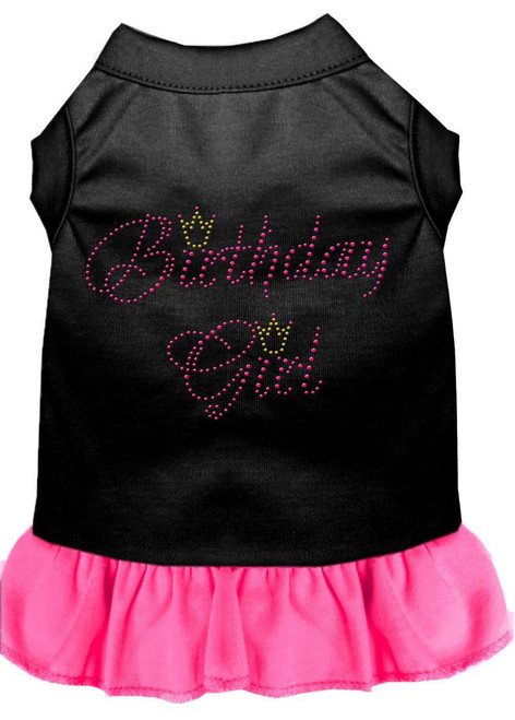 Birthday Girl Rhinestone Dress Black With Bright Pink Xxl (18)