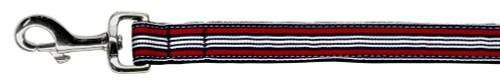 Preppy Stripes Nylon Ribbon Collars Red/white 1 Wide 6ft Lsh