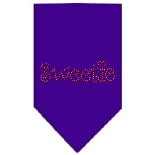 Sweetie Rhinestone Bandana Purple Large