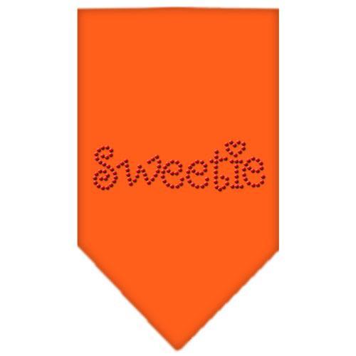 Sweetie Rhinestone Bandana Orange Large