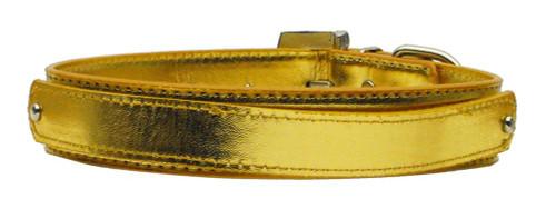 "3/4"" (18mm) Metallic Two-tier Collar  Gold Large - 18-02 LGGDM"