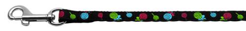Lollipops Nylon Ribbon Leash Black 3/8 Inch Wide 4ft Long