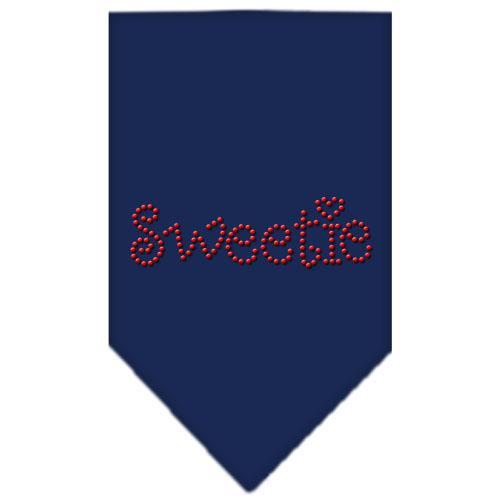 Sweetie Rhinestone Bandana Navy Blue Large