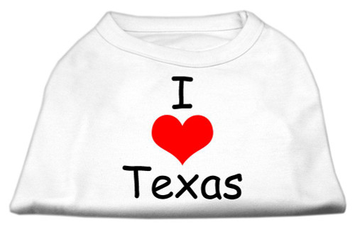 I Love Texas Screen Print Shirts White Xl (16) - 51-38 XLWT