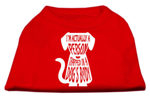 Trapped Screen Print Shirt Red Xs (8)