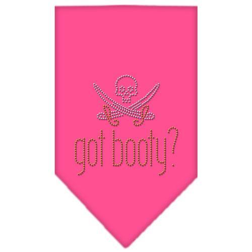 Got Booty Rhinestone Bandana Bright Pink Small